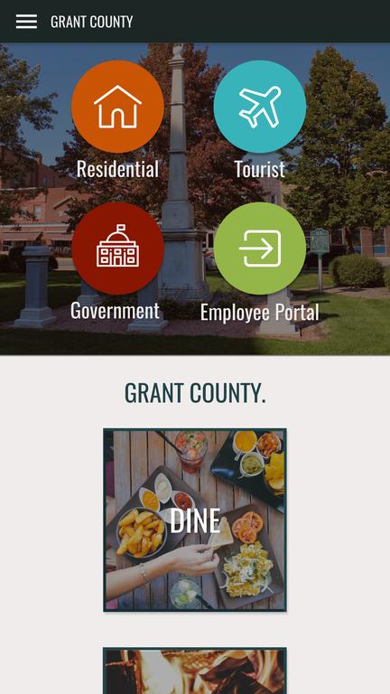 Grant County Mobile Mockup